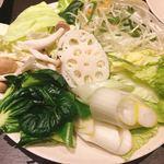 しゃぶ葉 - 野菜たっぷりが嬉しい。