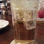 福きたる - 南高梅の完熟梅酒をソーダ割通常500円がクーポンで300円
