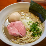 烈 - 料理写真:煮干そば 極¥800 +味玉¥100