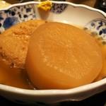 小川の魚 - 料理写真:おでん(大根・がんも)
