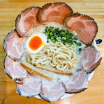 僕家のらーめん おえかき - 「ふわまる塩チャーシューめんの麺」(2018.01)