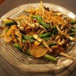 ミルチ - 小魚といんげんのベンガル炒め