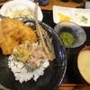釣りあじ食堂 - 料理写真:アジフライ付きなめろう丼