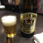 どすこい四文屋 - 「ビンビール(中)」500円也。