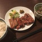 79415399 - 牛たんの一仙(真とろたん焼定食)