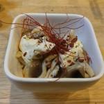 福島壱麺 - エリンギクリームチーズ