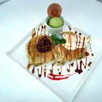 ソレイユカフェ - 黒ごまのパンケーキ