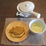 Chaie - かなやみどり&茶家たいやき(丹波黒さや大納言小豆)