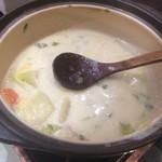 79420129 - 朝食ブッフェの一部 豆乳鍋