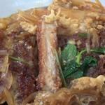 満腹食堂 - かつ丼 カツの断面