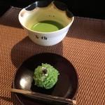 Tsuruyayoshinobu - 「若松」と抹茶
