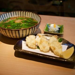 【期間限定:新メニュー】今が旬、牡蠣の天ぷらそば。