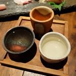 りゅうの介 - 3種利き酒(1300円)