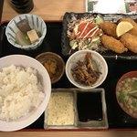 生本まぐろ へぎそば 炉端焼 魚然 - 料理写真:カキフライ定食@850円