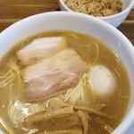 79424950 - 2018.1.塩ラーメン、鶏牛蒡炊き込みご飯