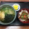 うどん・そば北の庄 - 料理写真:うどんセット(ミニカルビ)770円