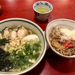 神田 五大 - 牡蠣南蛮うどんと牛丼セット