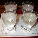 7943092 - 人気の地酒呑みくらべセット四国編(1260円)