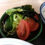 すかや - 【2018.1.15(月)】らーめんセット(並盛)780円の野菜サラダ