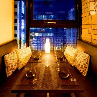 人気No1【夜景個室】2〜6名様用テーブル個室