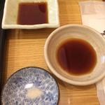 食堂 松月 - 醤油、ポン酢、塩、で頂きました。