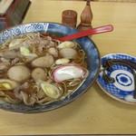 佐藤屋 - 芋煮そばセット 1150円 (2017.12)