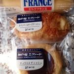 神戸屋東京工場直売店 -  ミルクフランス/カマンベールチーズデニッシュ/ティラミスデニッシュ
