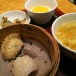 赤坂璃宮 - セットの 飲茶 スープ ザーサイ デザート