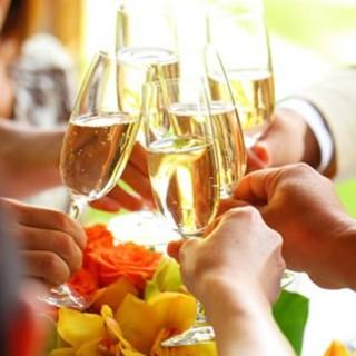 常時ワインを20種類以上ご用意!カクテルやノンアルカクテルも