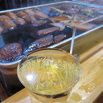 博多のおでん - 博多のおでんに合うのがコップ酒。 甘めの味に、しっかりした風味の剣菱がぴったりです。