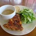 クランペット - 野菜のキッシュランチ