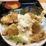 利根 - ☆鶏南蛮。衣はふわっと、鶏肉は柔らかく、タルタル、タレ共に濃すぎずいい塩梅。