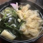松の家 - 薄揚げ山菜うどん