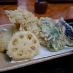 芝大門 更科布屋 - 野菜天ぷら