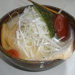 味噌蔵 麺駒亭 - 味噌ねぎラーメン 白味噌