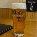 和酒飯くり家 - 生ビール(600円)