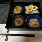 千秋こまち - 料理写真:最初の4品