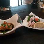 寿司ダイニング やまざき - あん肝、白子のポン酢