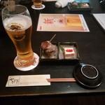 寿司ダイニング やまざき - ビールとお通し