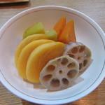 蕎心 - 料理写真:「柿と旬野菜の白和え」