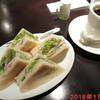 ぶいえいと - 料理写真:モーニング 日替わりサンド+ホットコーヒー \650