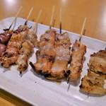 にわ とりのすけ - 料理写真:焼鳥たち