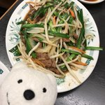 日高屋 - ニラレバ炒め Stir Fried Liver and Chinese Chives at Hidakaya, Kojimachi Prince Dori!♪☆(*^o^*)