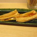 天ぷら やす田 - 煮穴子をちょっとご賞味させて頂きました