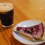 梵恩舎 - 豆腐のチーズケーキとアイスコーヒー