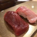 寿司 すみたに - 本マグロ赤身、インドマグロ中トロ