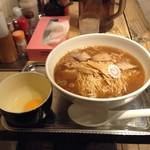柳屋 - 煮干し中華そば大盛980円+生卵無料サービス