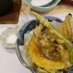 古拙 - 旬のお野菜の天ぷら♫2017/12
