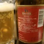 サルマ ティッカアンドビリヤニ - インドビール「キングフィッシャー」(720円)