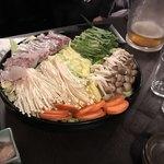 海鮮個室居酒屋 魚将 - 海鮮出汁の鯛しゃぶ鍋の具材